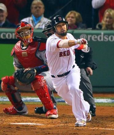 Shane Victorino returned to the lineup with a vengeance in Game 6, belting a three-run double in the third inning that ignited the Red Sox offense.